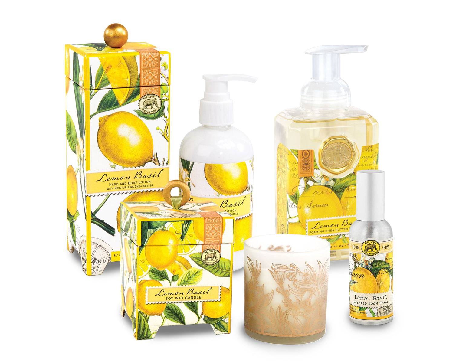 Lemon Basil Bath Set