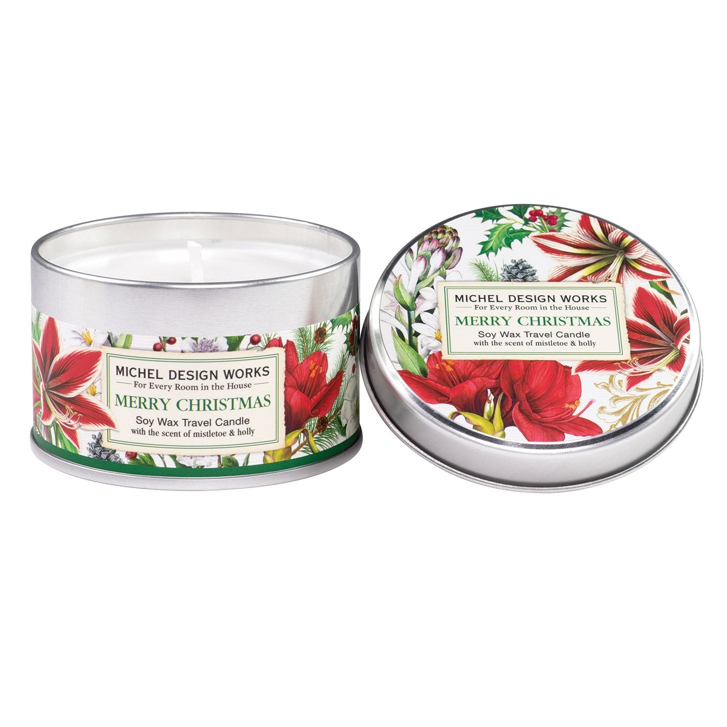 Merry Christmas Travel Candle