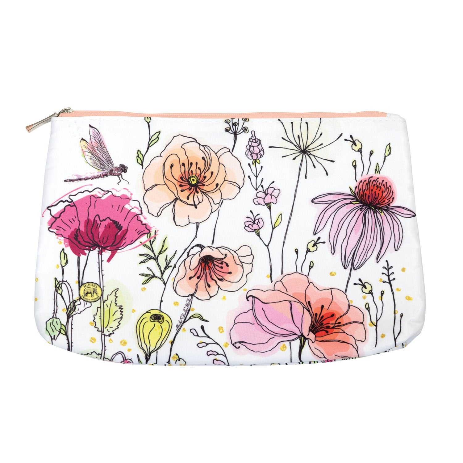 Posies Medium Cosmetic Bag
