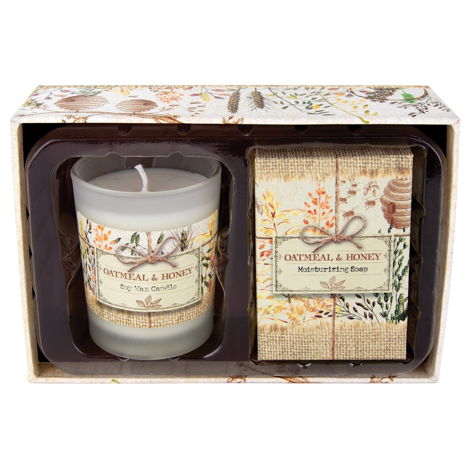 Oatmeal & Honey Candle and Soap Gift Set