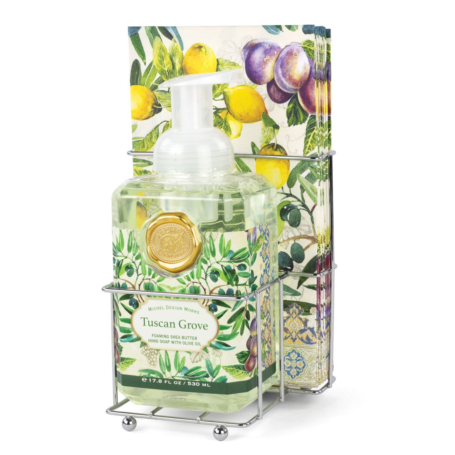 Tuscan Grove Foaming Hand Soap Napkin Set