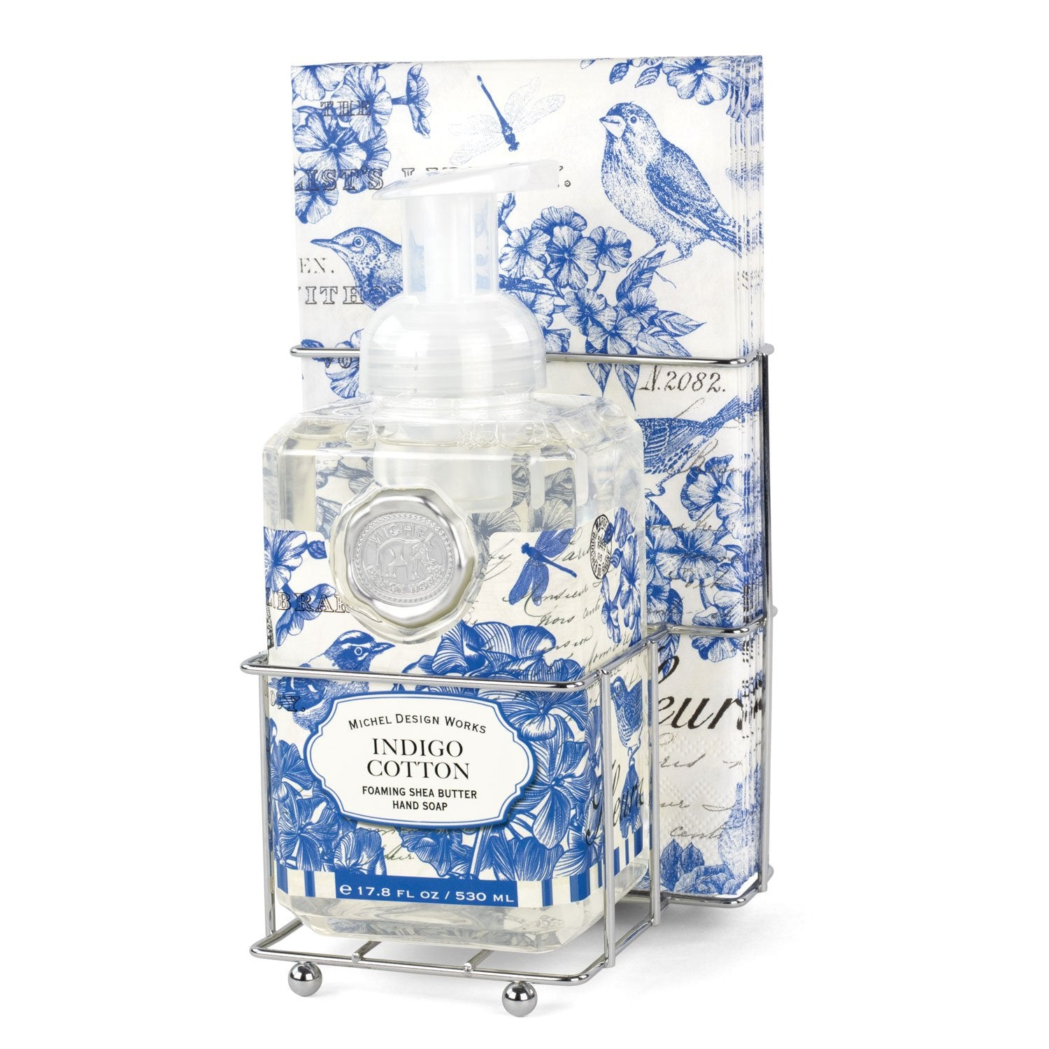 Indigo Cotton Foaming Hand Soap Napkin Set