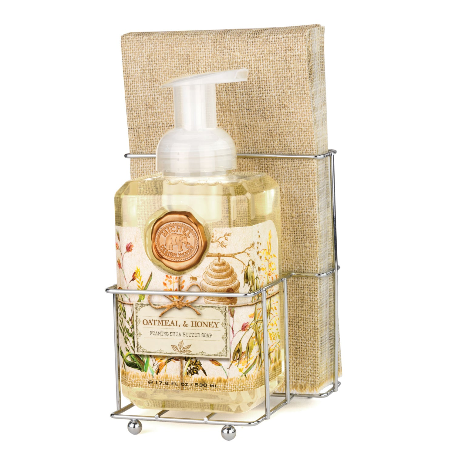 Oatmeal & Honey Foaming Hand Soap Napkin Set