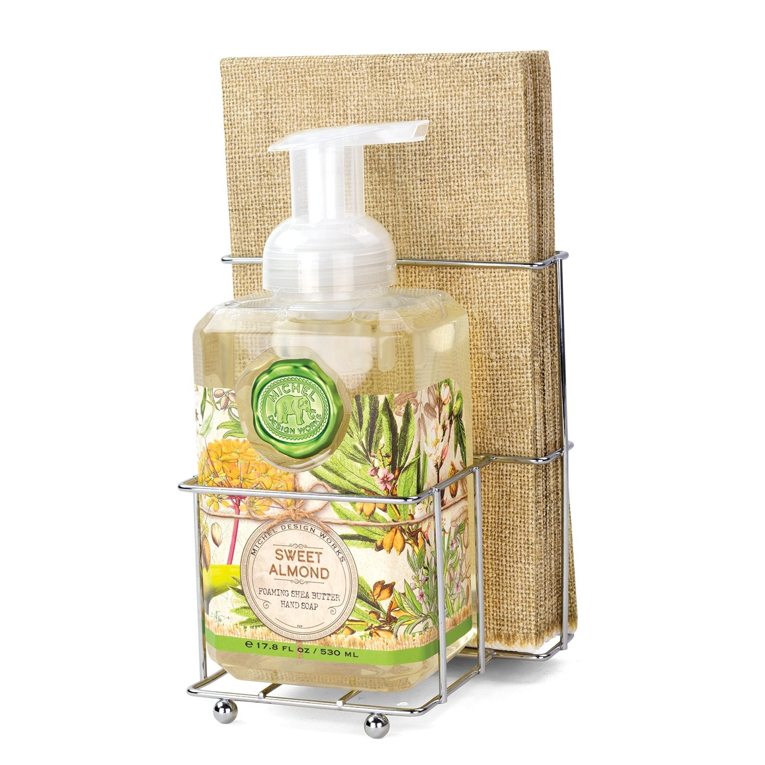 Sweet Almond Foaming Hand Soap Napkin Set