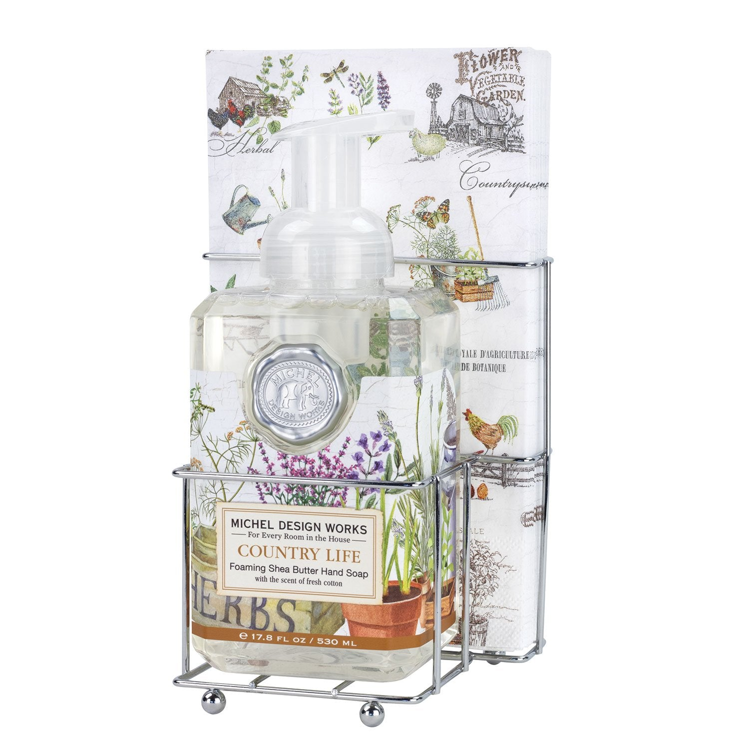 Country Life Foaming Hand Soap Napkin Set