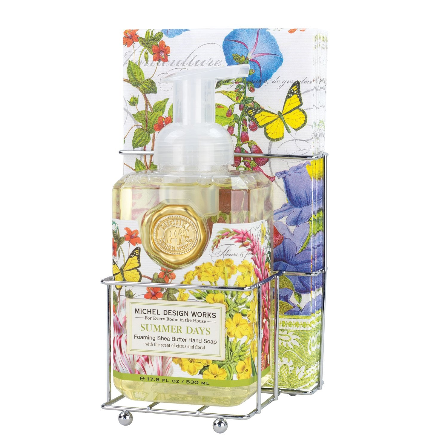 Summer Days Foaming Hand Soap Napkin Set