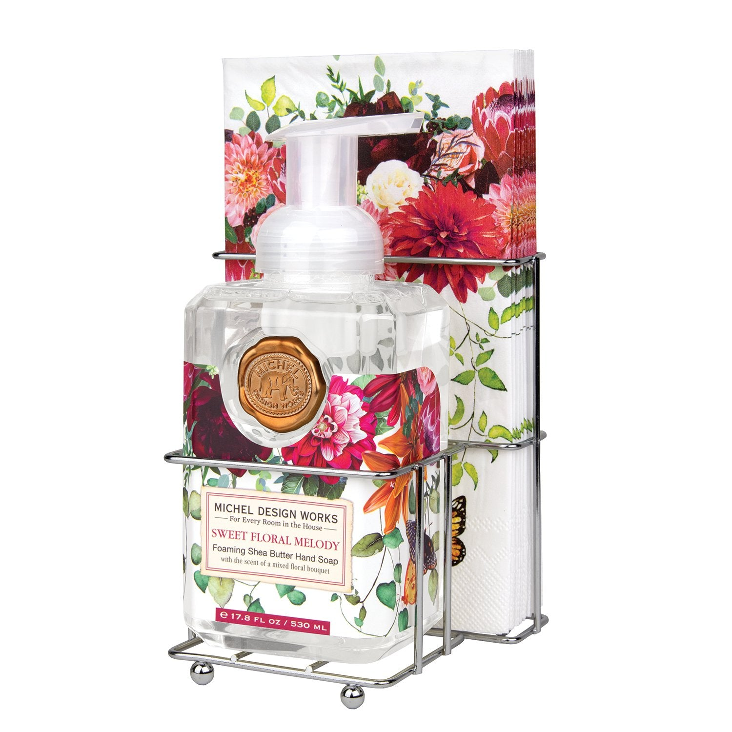 Sweet Floral Melody Foaming Soap Napkin Set
