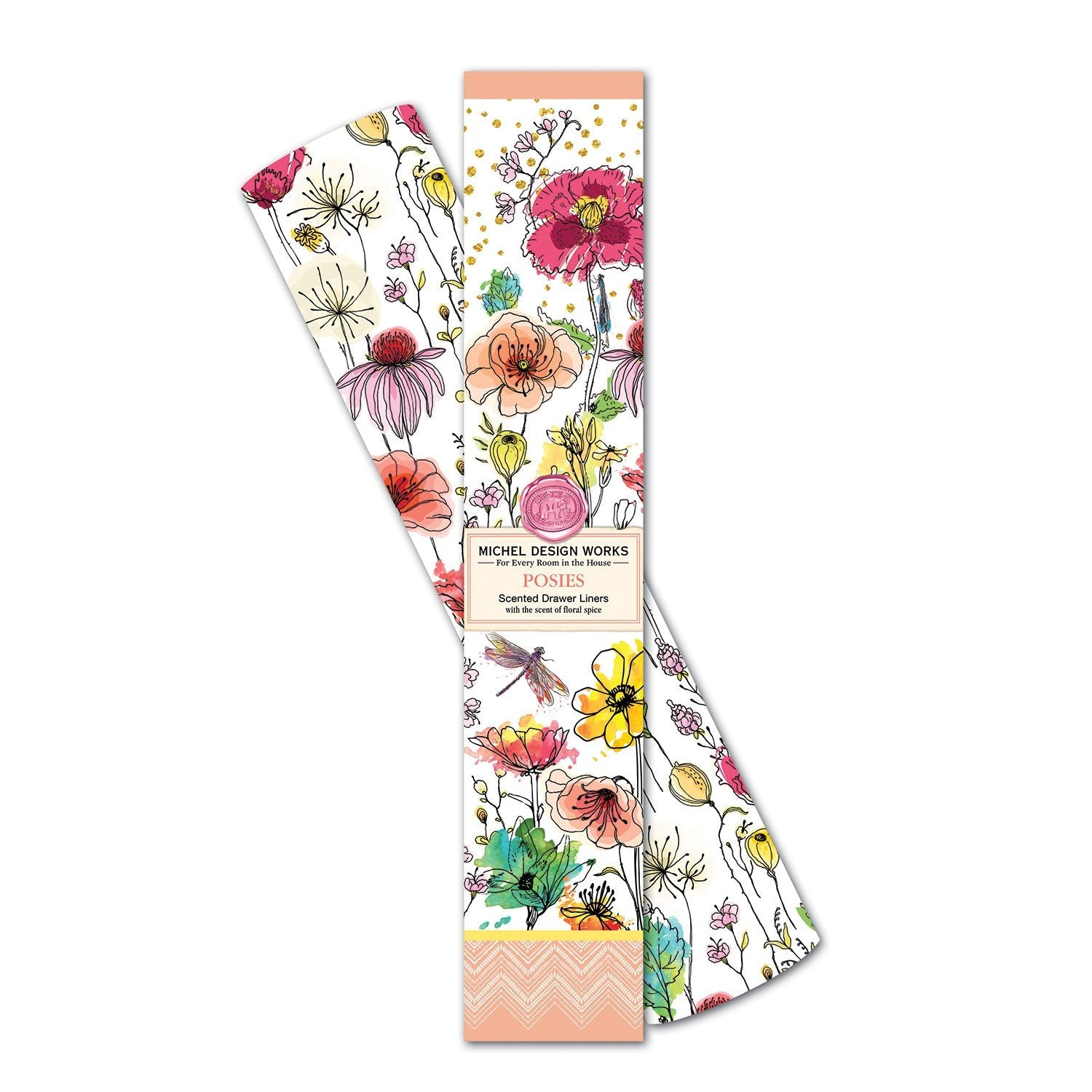 Posies Scented Drawer Liners