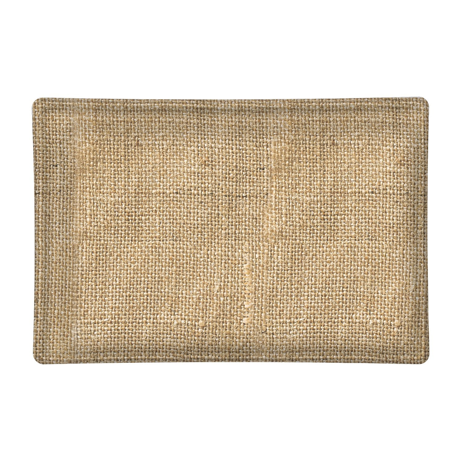 Burlap Rectangular Glass Soap Dish