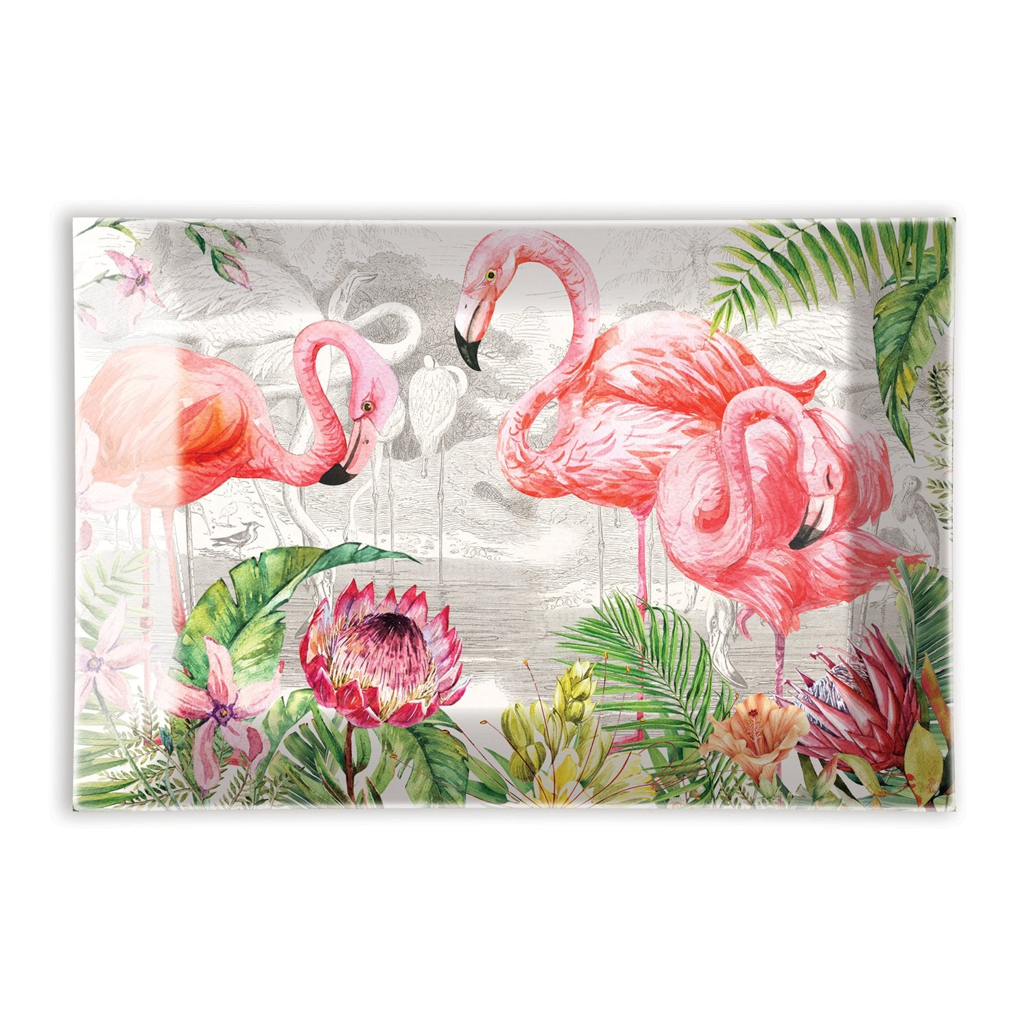Flamingo Rectangular Glass Soap Dish