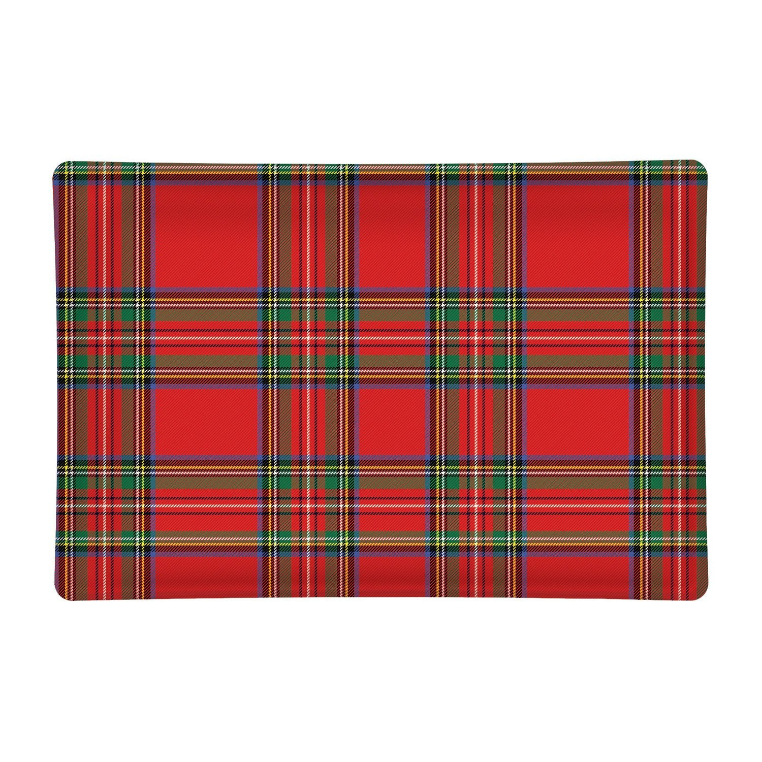 Tartan Rectangular Glass Soap Dish