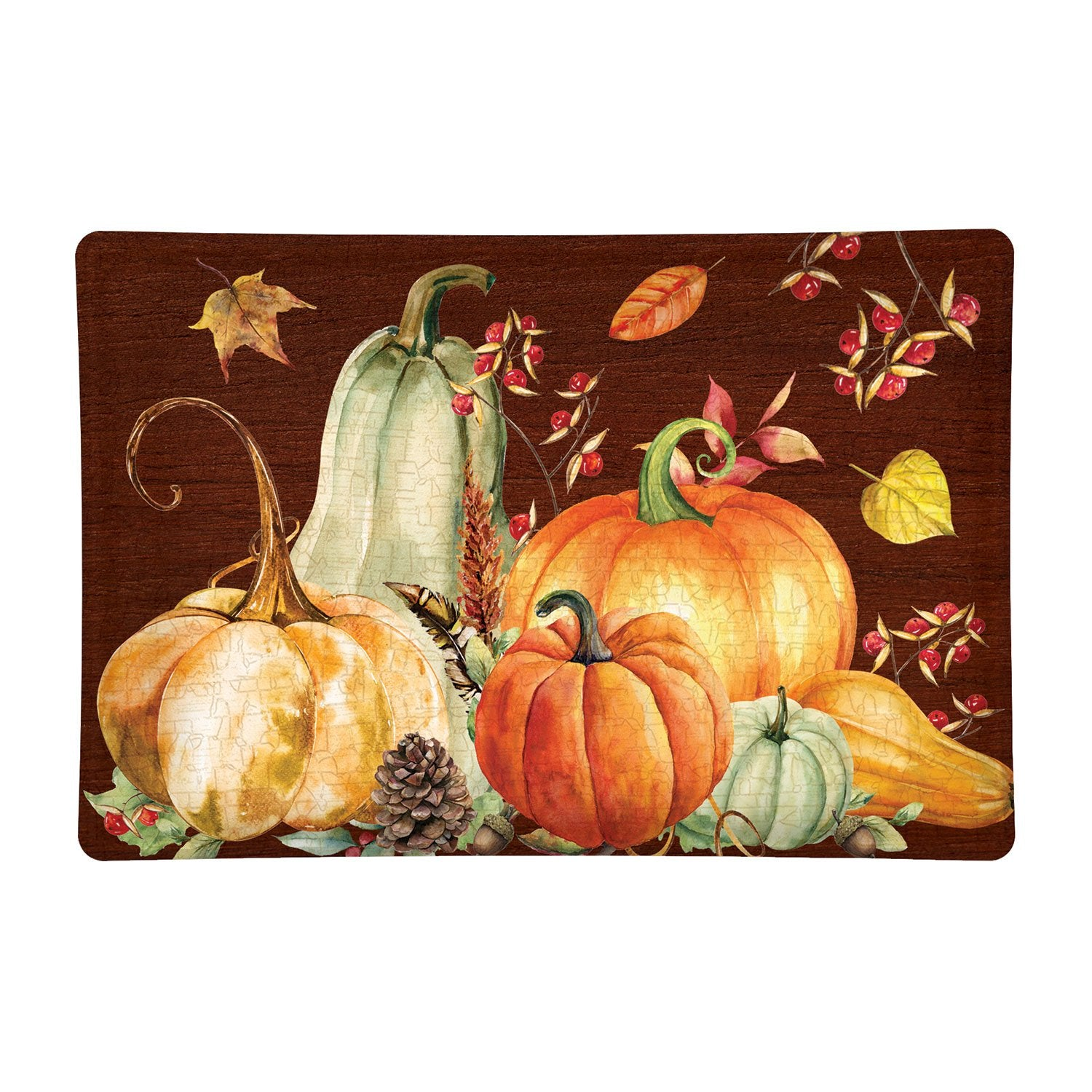 Sweet Pumpkin Rectangular Glass Soap Dish