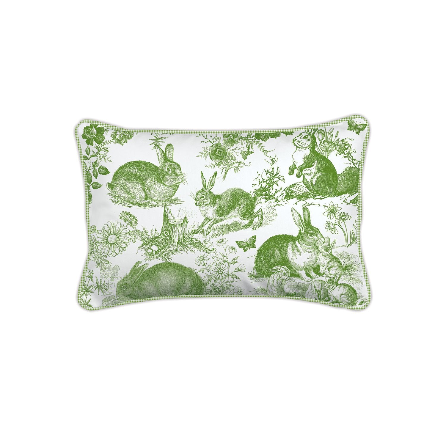 Bunny Toile Rectangular Pillow