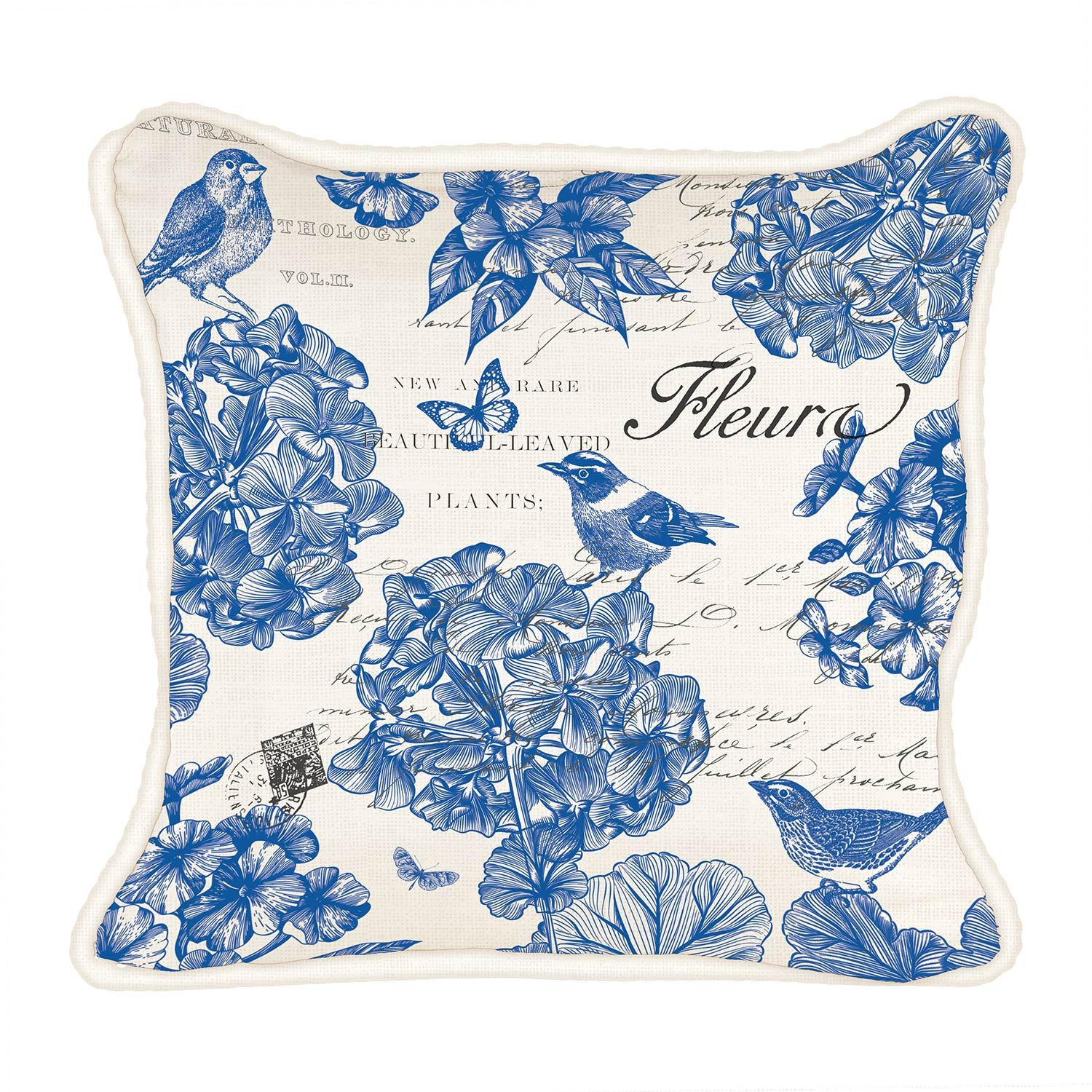 Indigo Cotton Square Pillow
