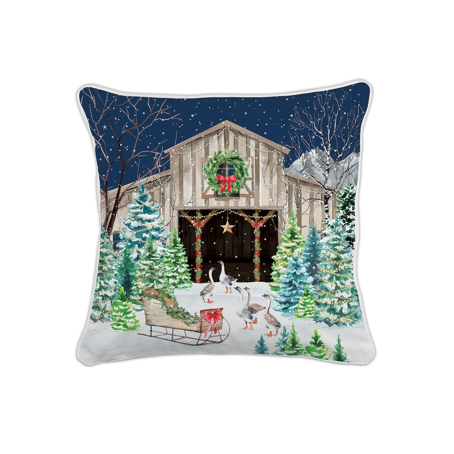 Christmas Snow Square Pillow