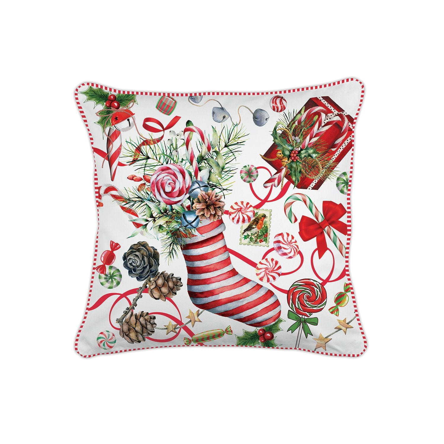 Peppermint Square Pillow