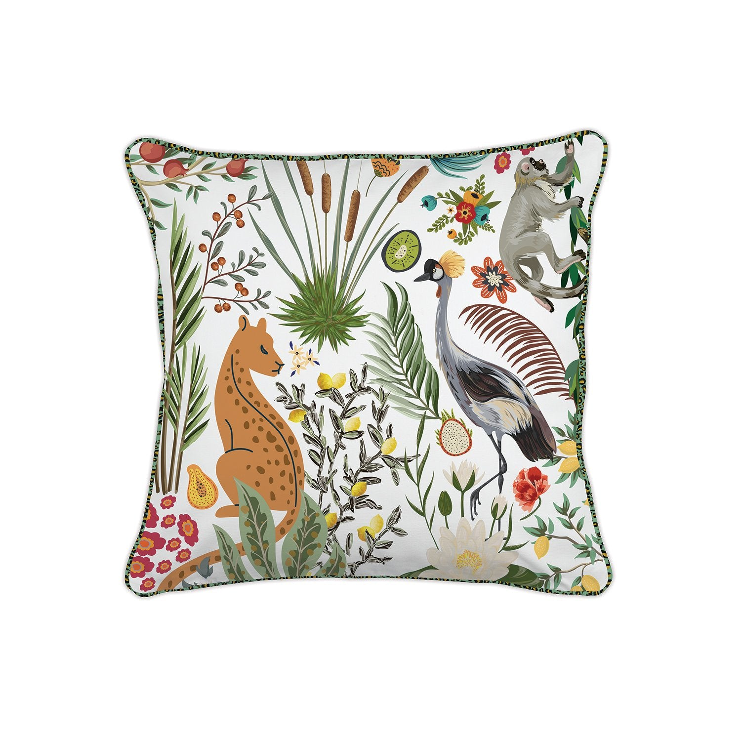 Wild Lemon Square Pillow