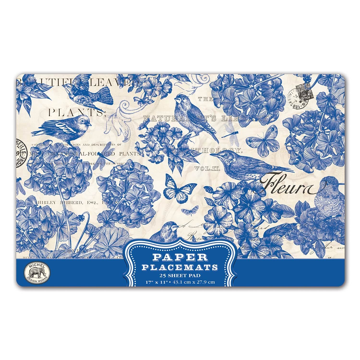 Indigo Cotton Paper Placemats