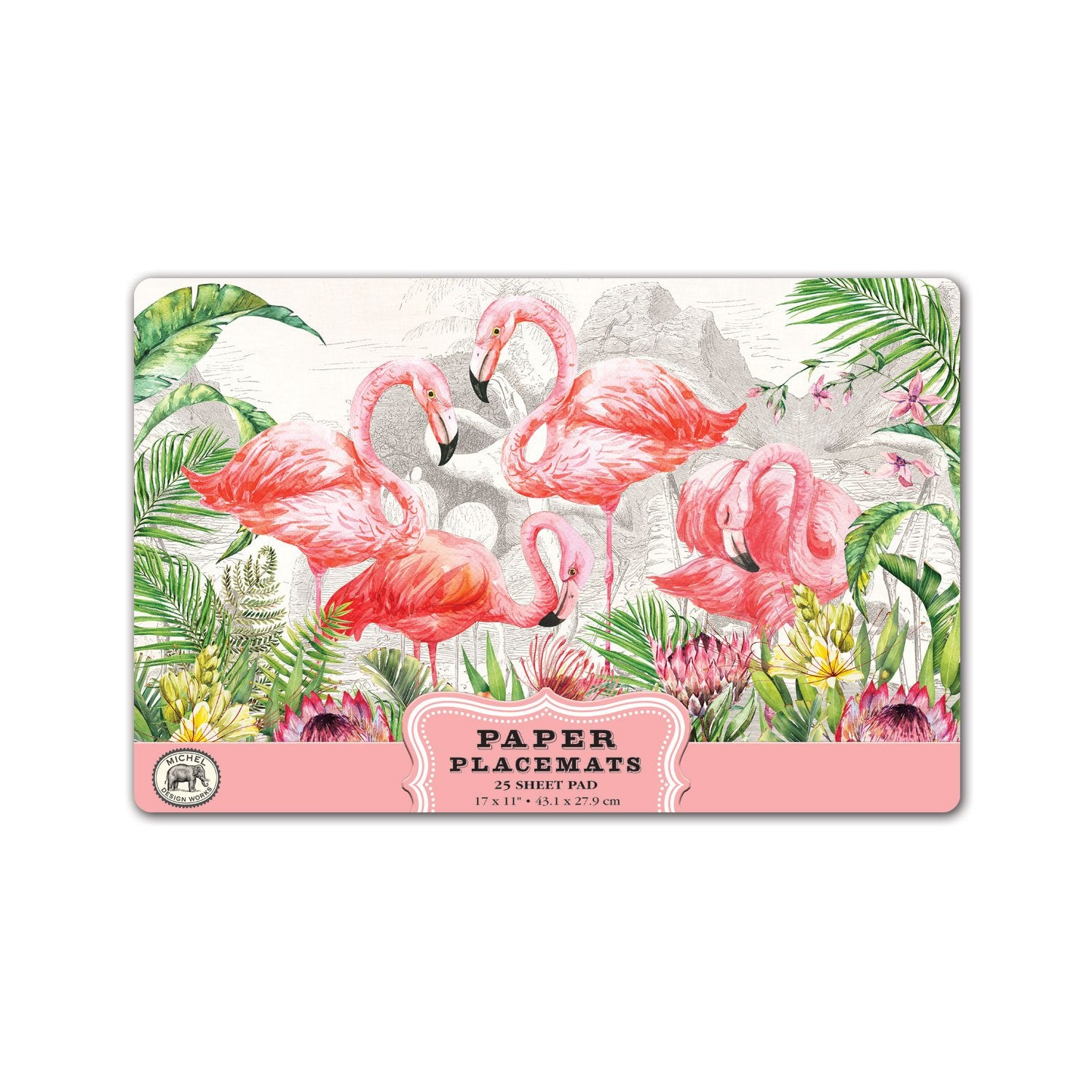 Flamingo Paper Placemats