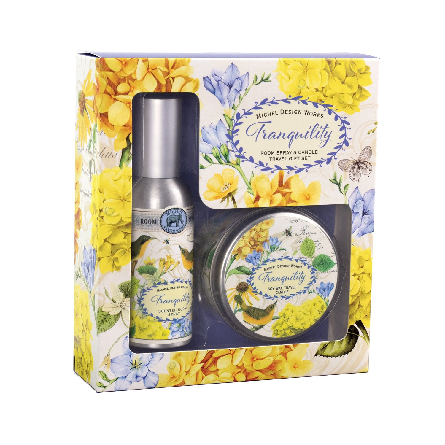 Tranquility Room Spray and Candle Travel Gift Sets