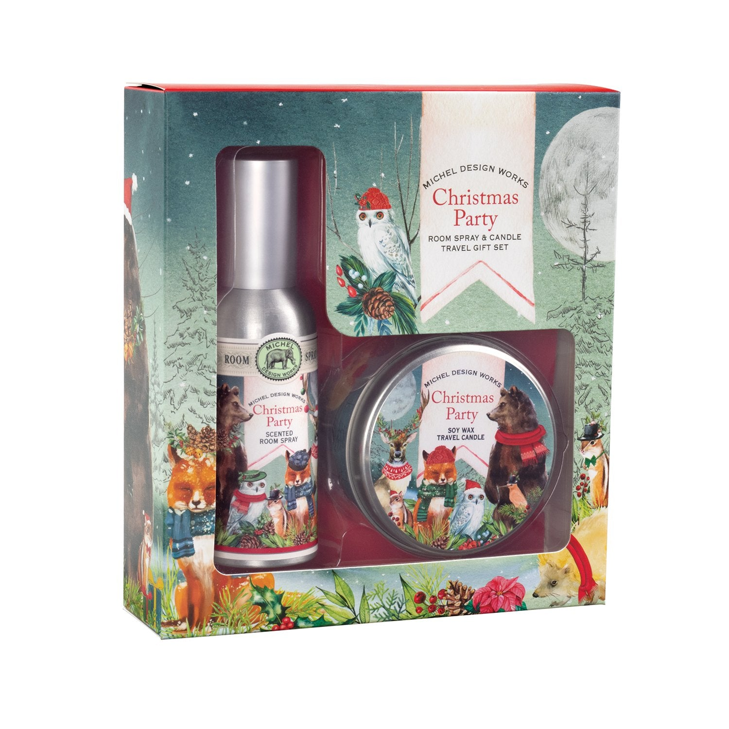 Christmas Party Room Spray and Candle Travel Gift Sets