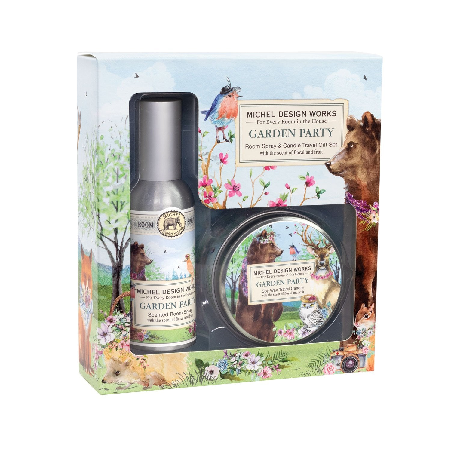 Garden Party Room Spray and Candle Travel Gift Sets