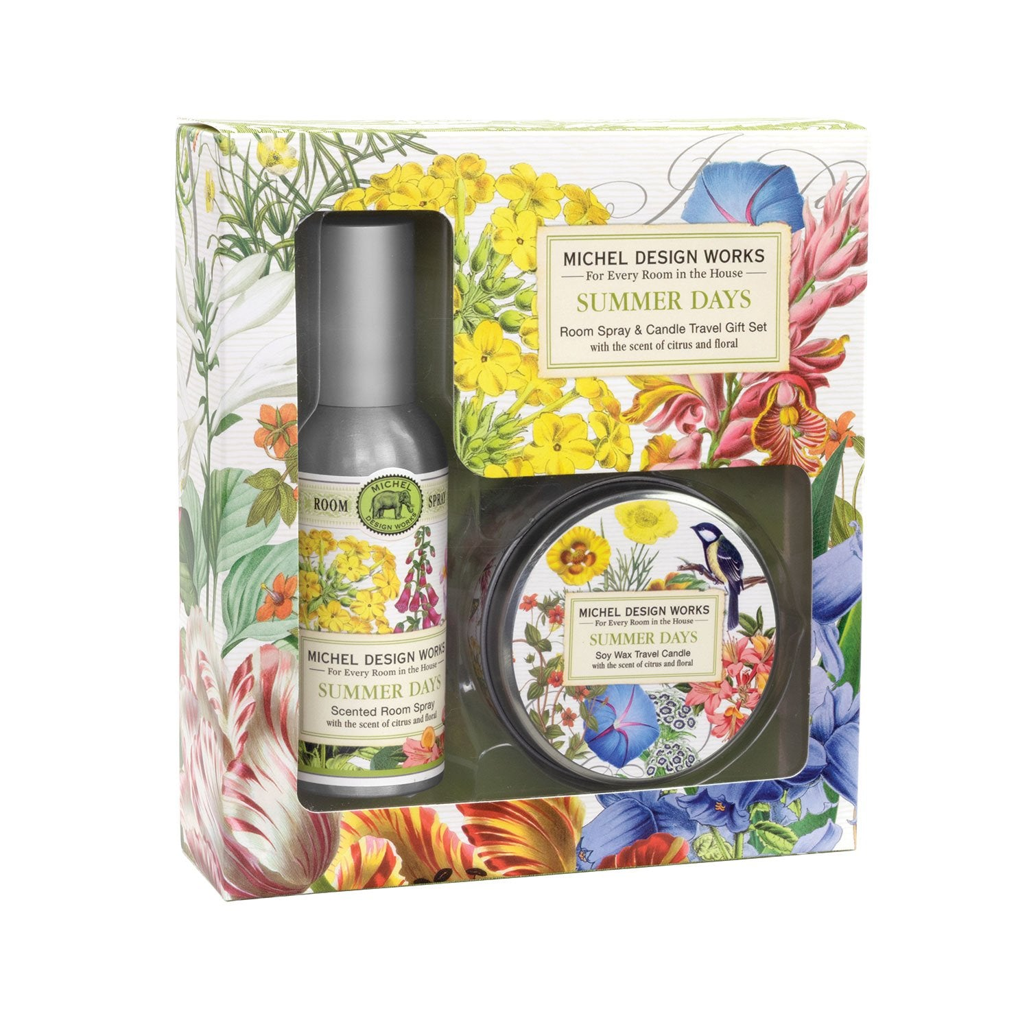 Summer Days Room Spray and Candle Travel Gift Sets