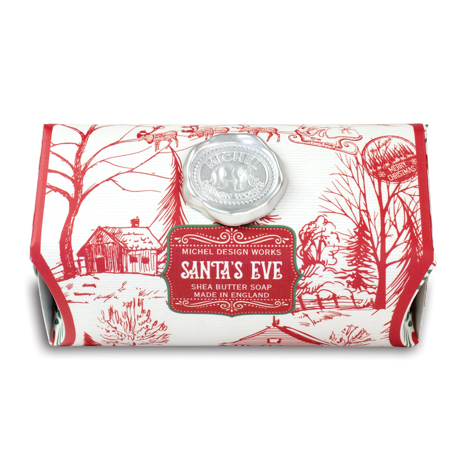 Santa's Eve Large Bath Soap Bar