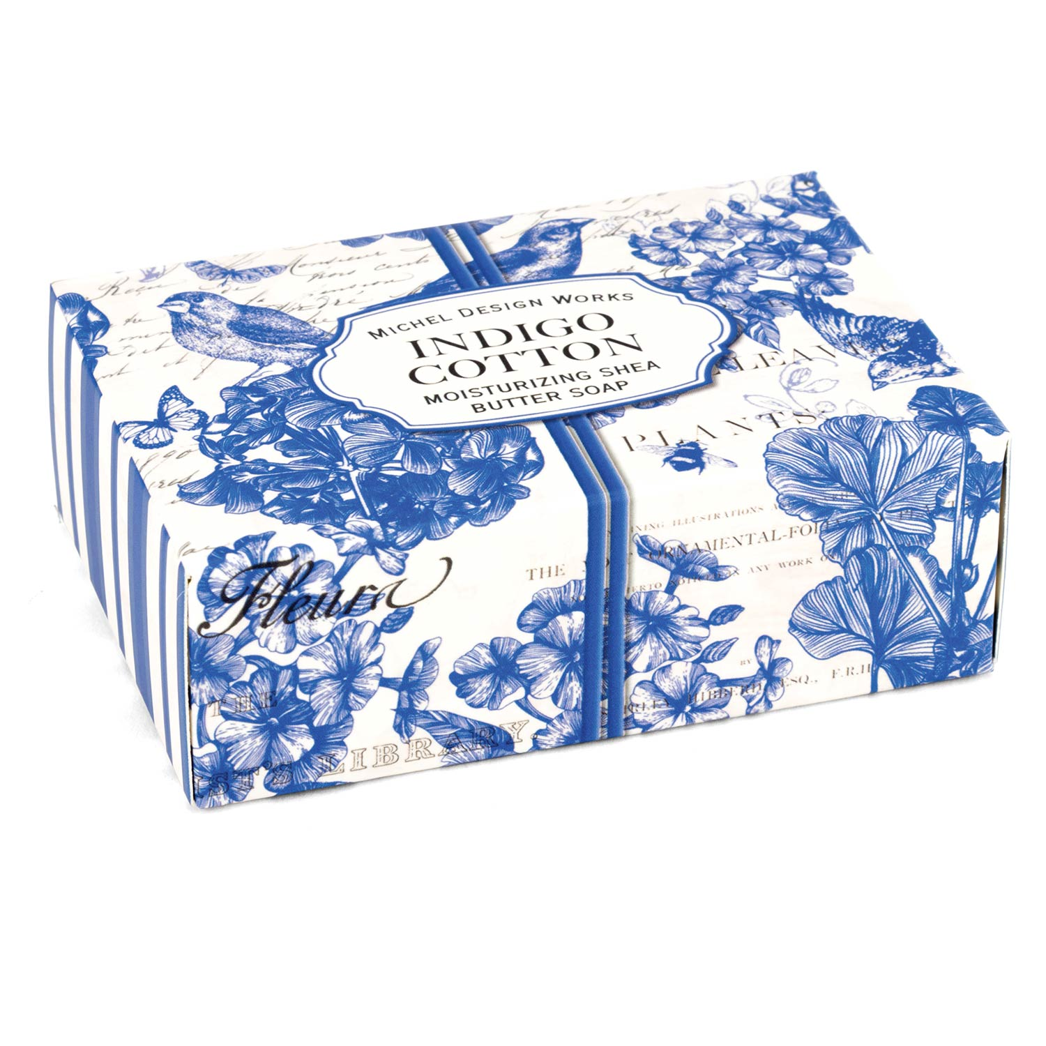 Indigo Cotton Boxed Single Soap