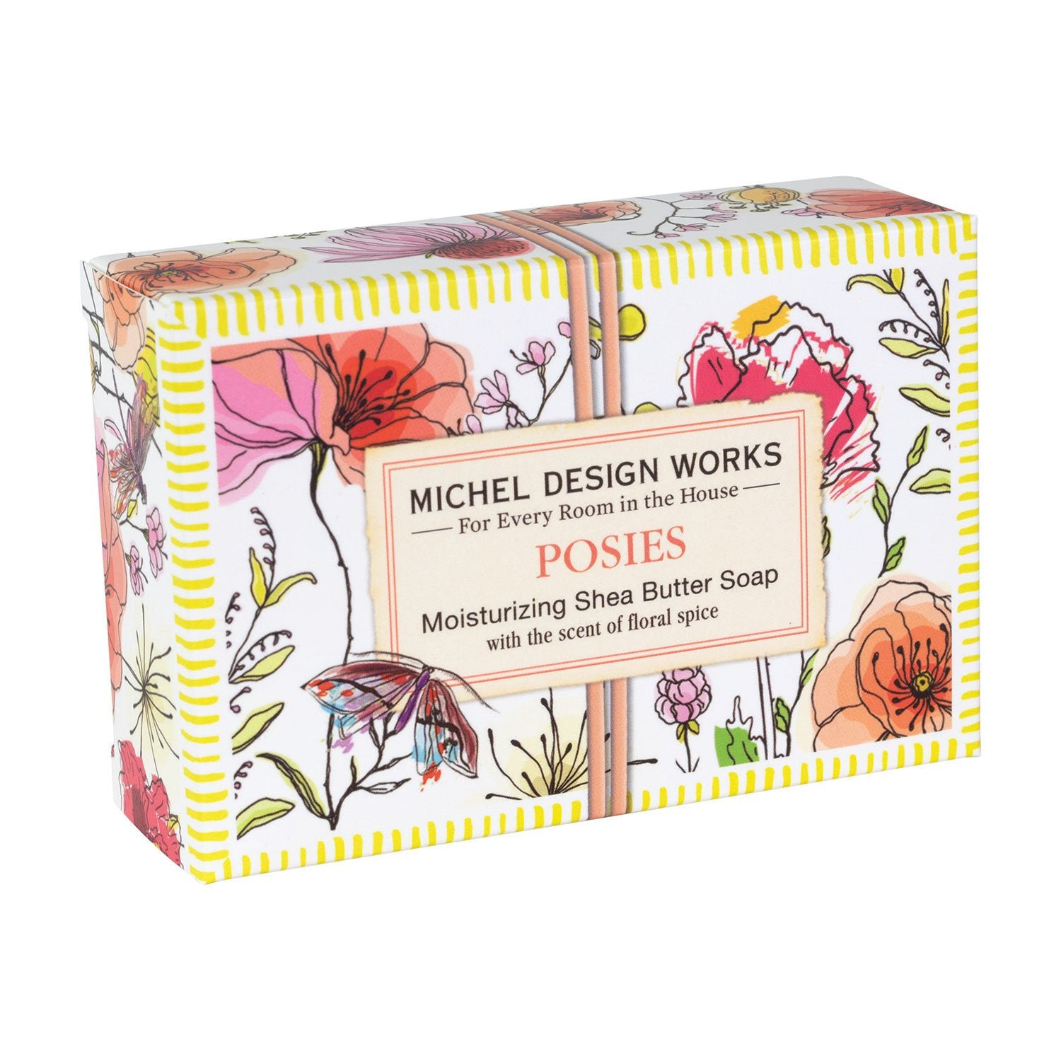 Posies Cosmetic Bag, Lotion & Soap Set