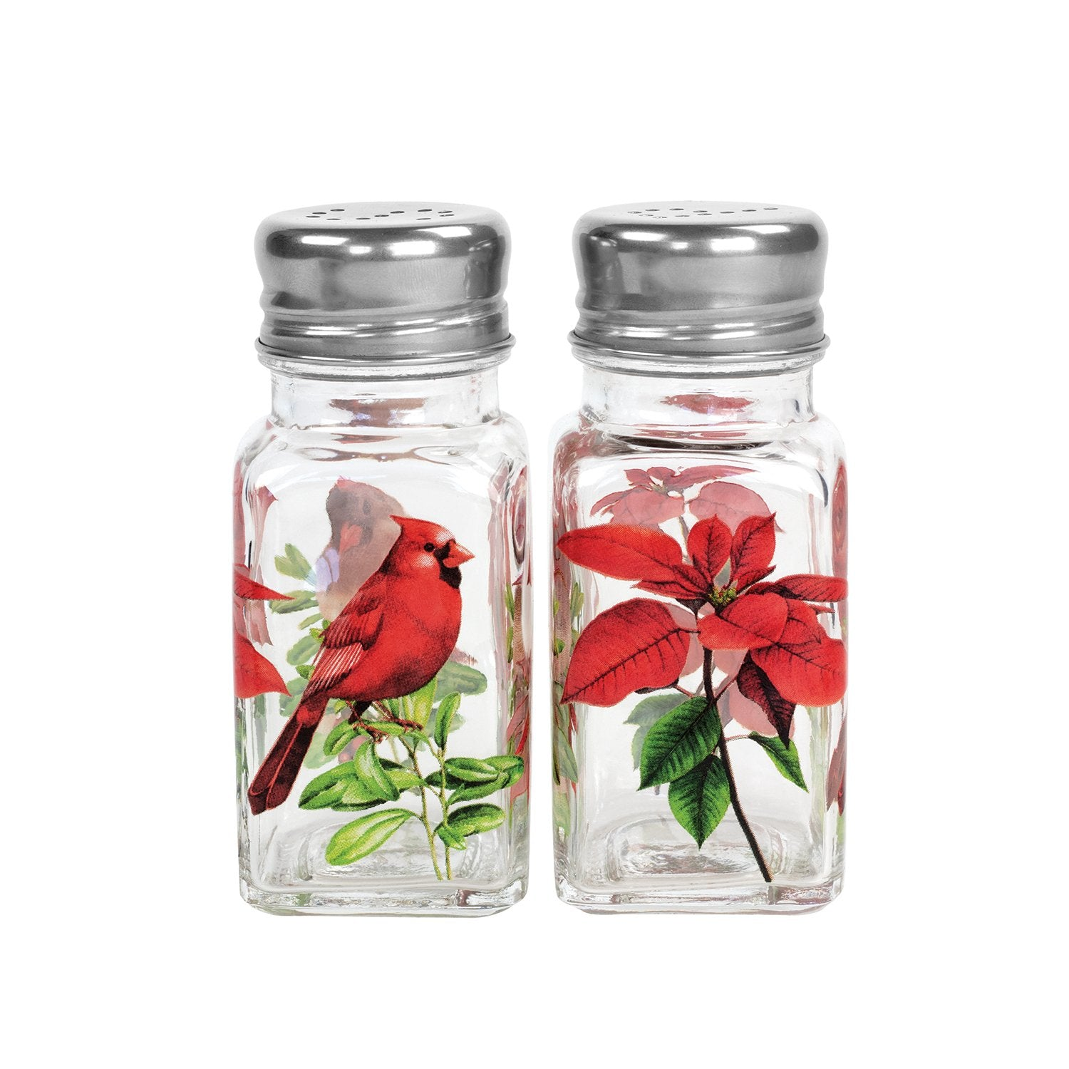 Poinsettia Salt and Pepper Set