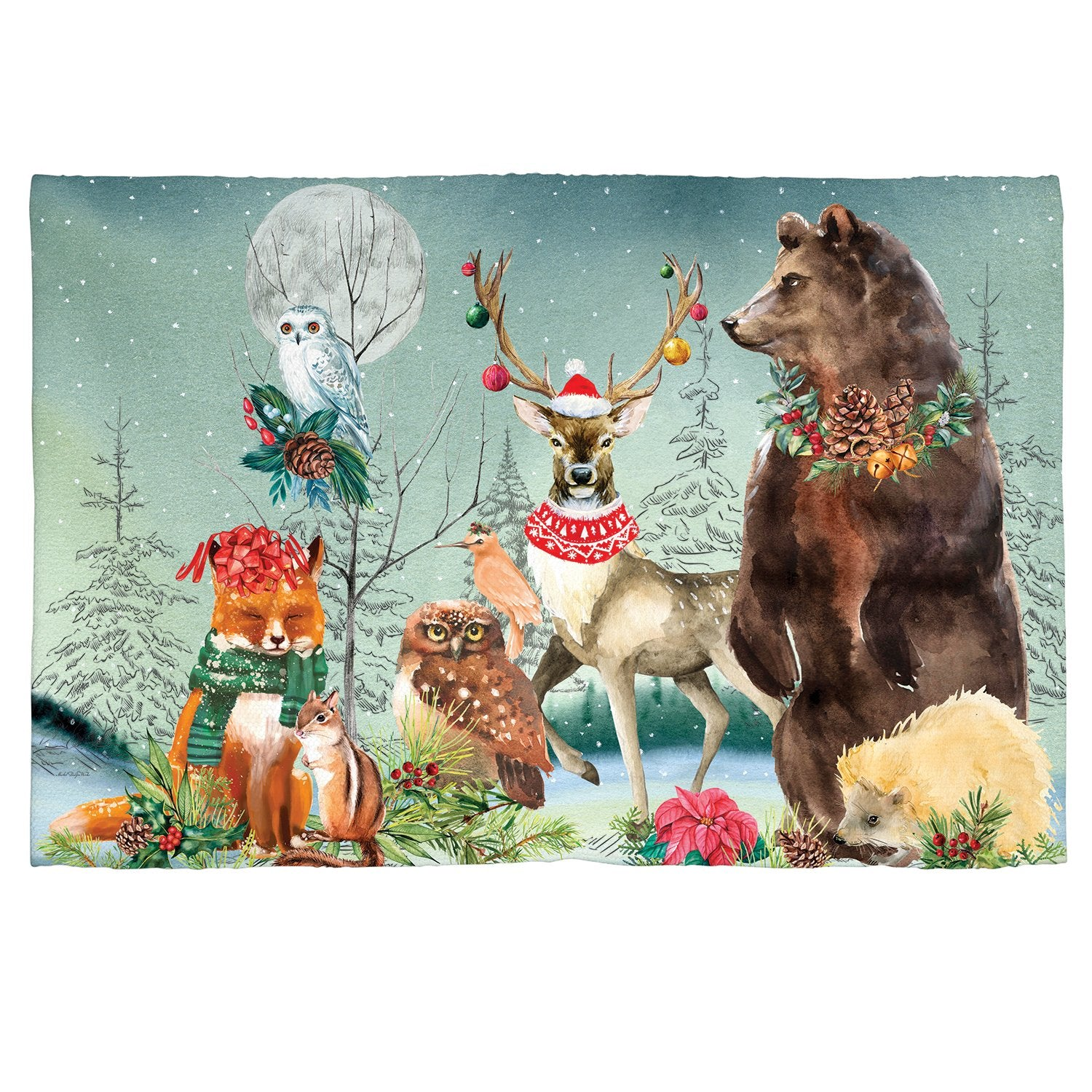 Christmas Party Scatter Rug