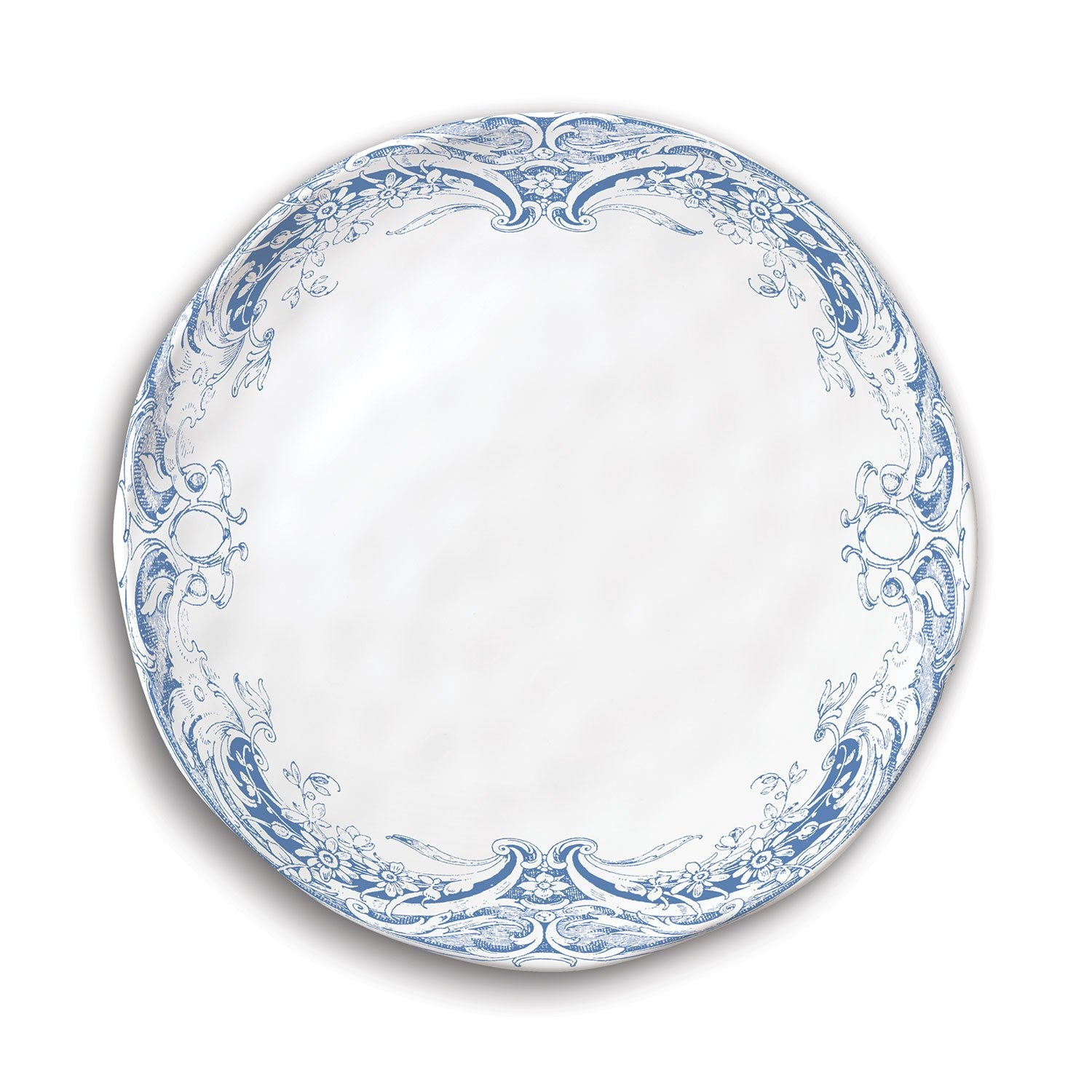Antique Scroll Melamine Accent Plate