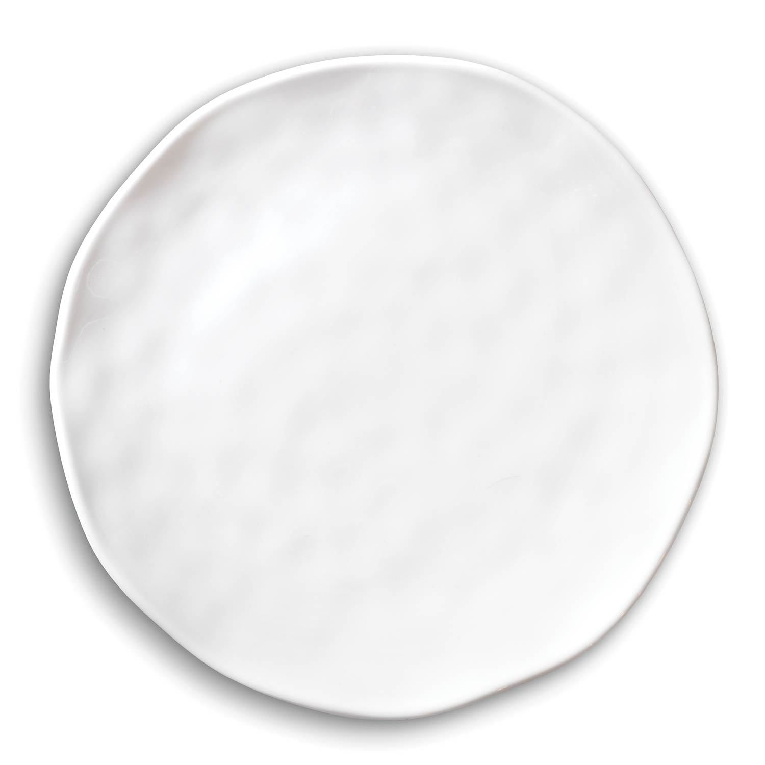 White on White Melamine Accent Plate