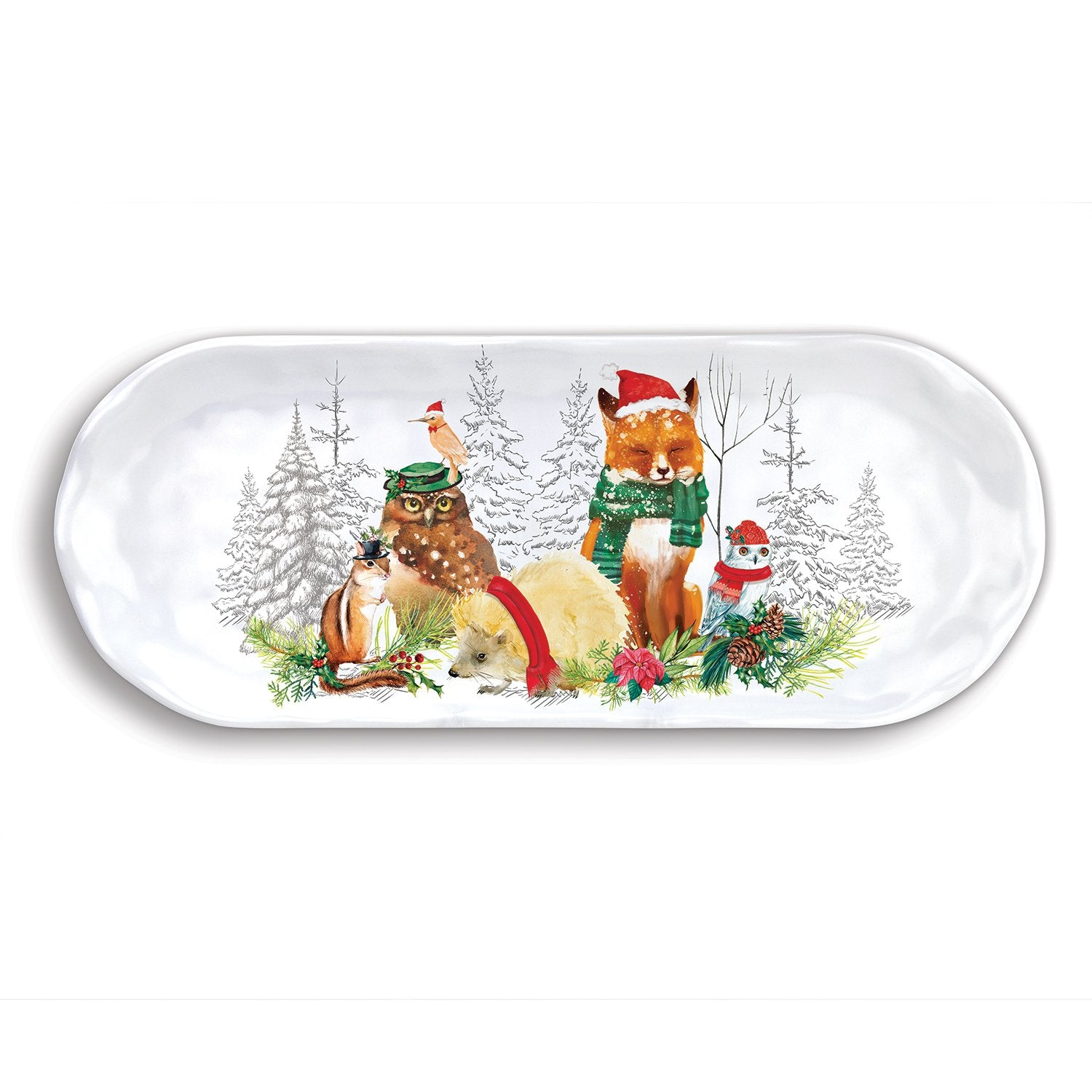Christmas Party Melamine Serveware Accent Tray