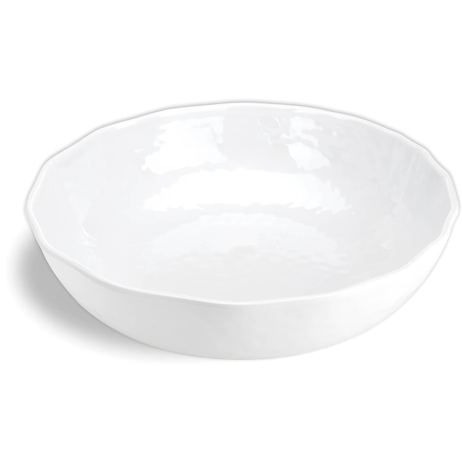 White on White Melamine Bistro Bowl