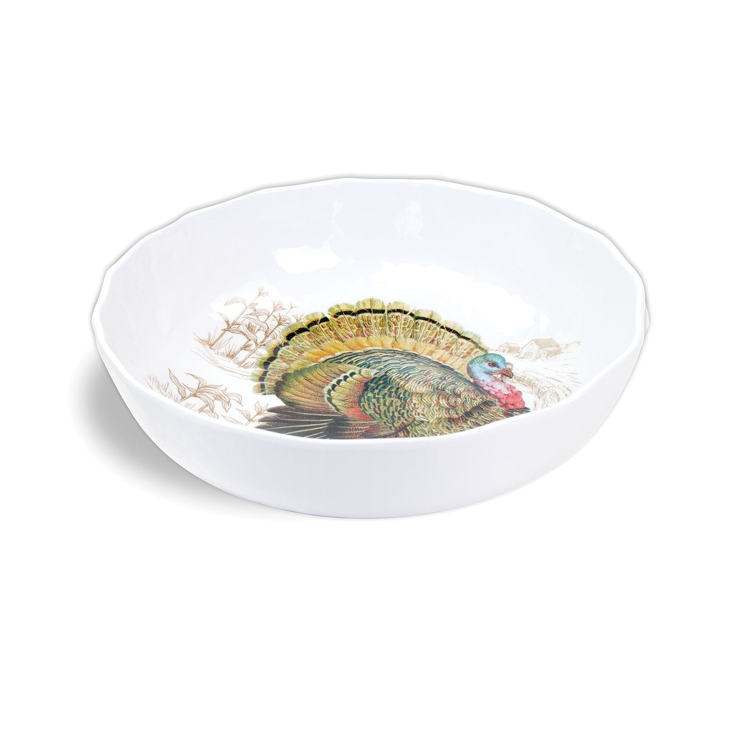 Fall Harvest Turkey Melamine Bistro Bowl