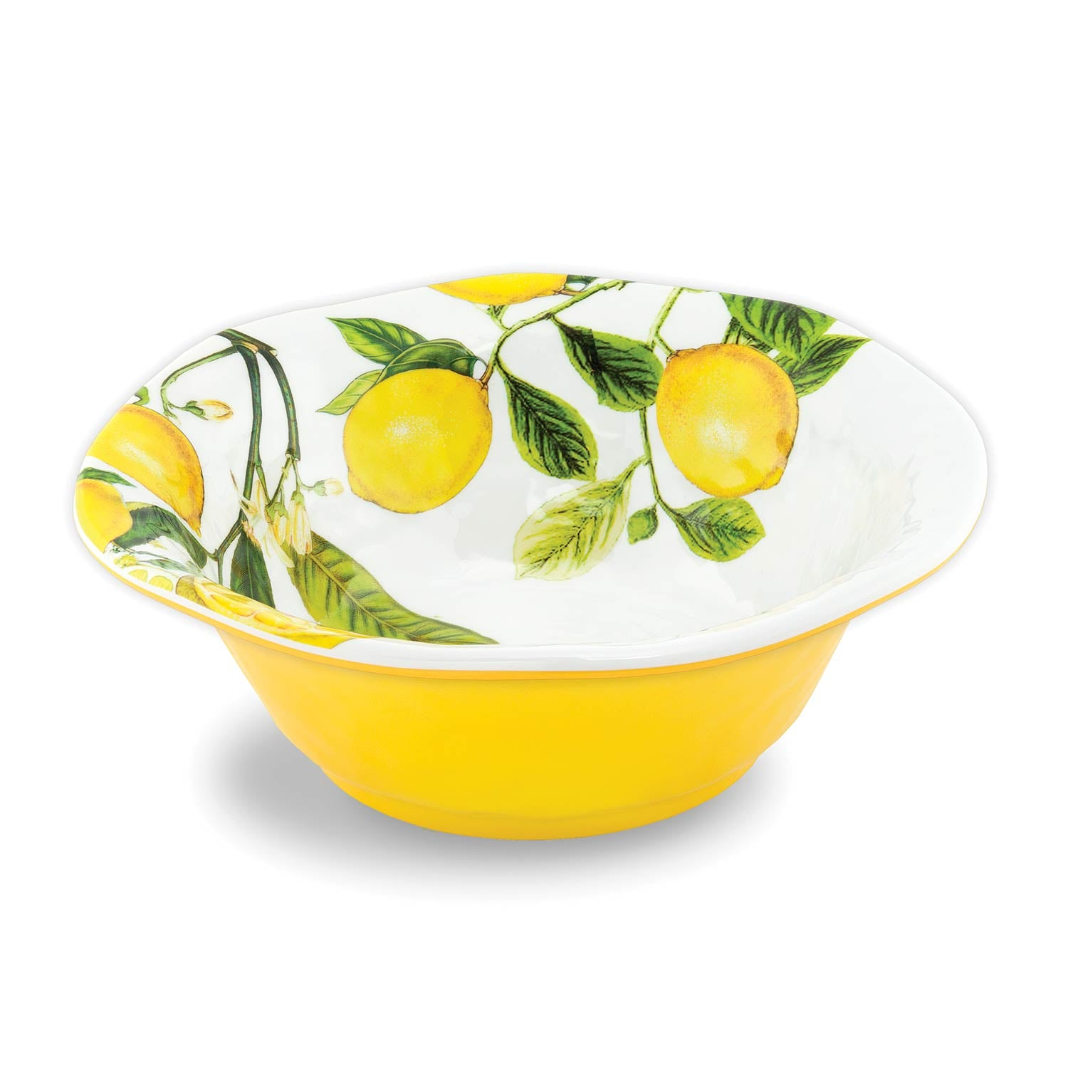 Lemon Basil Melamine Medium Bowl