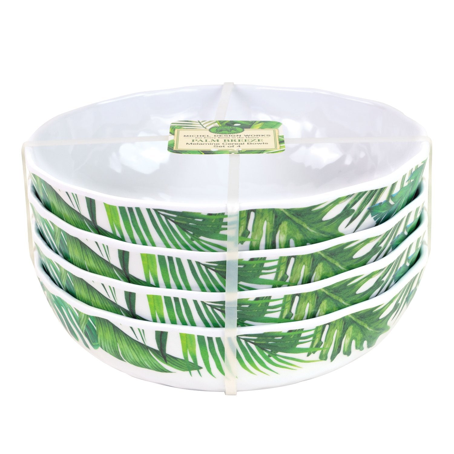 Palm Breeze Melamine Serveware Cereal Bowl Set