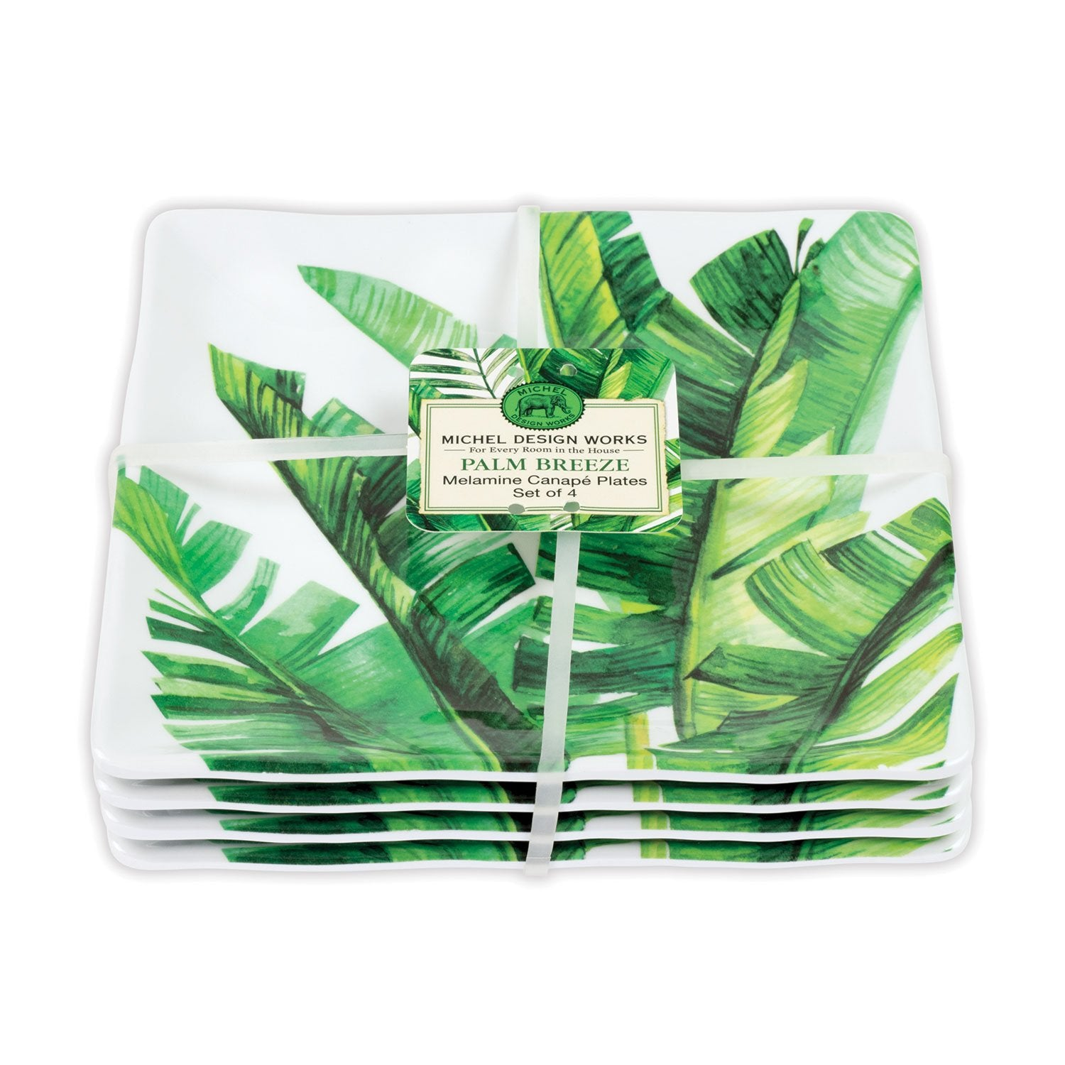 Palm Breeze Melamine Serveware Canape Plate Set