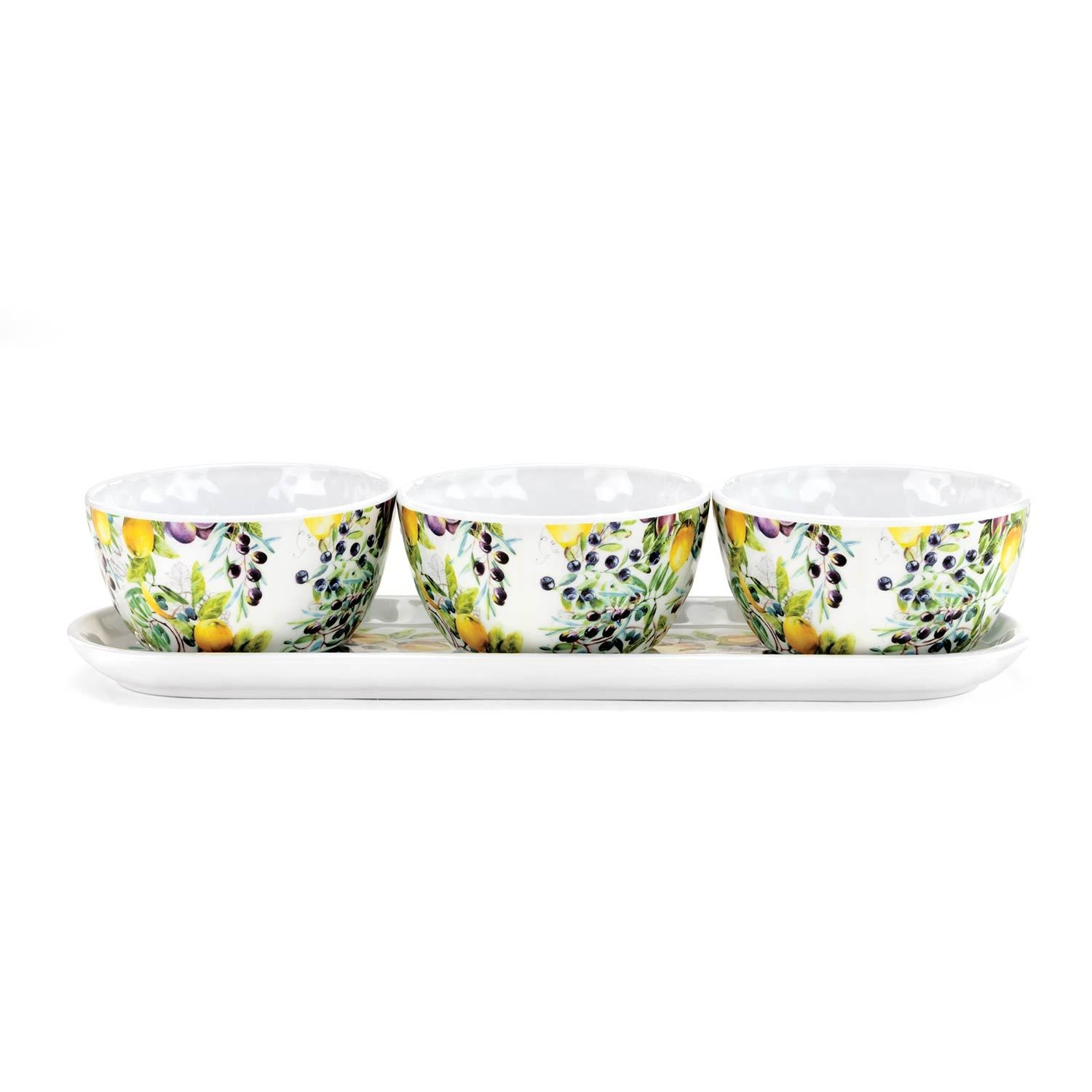 Tuscan Grove Melamine Condiment Set