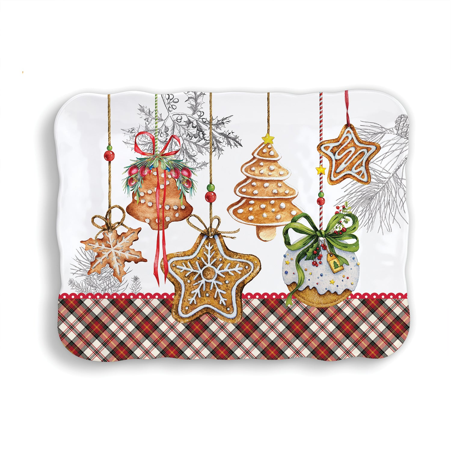 Holiday Treats Melamine Cookie Tray