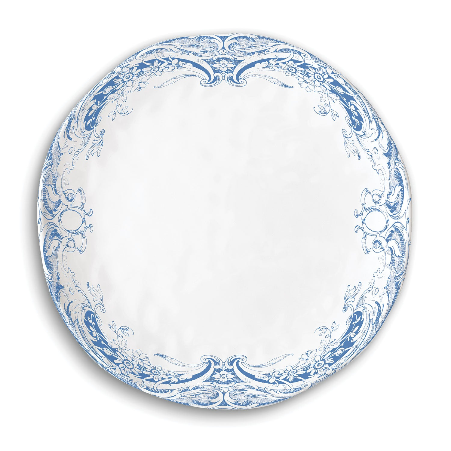 Antique Scroll Melamine Casual Dinner Plate