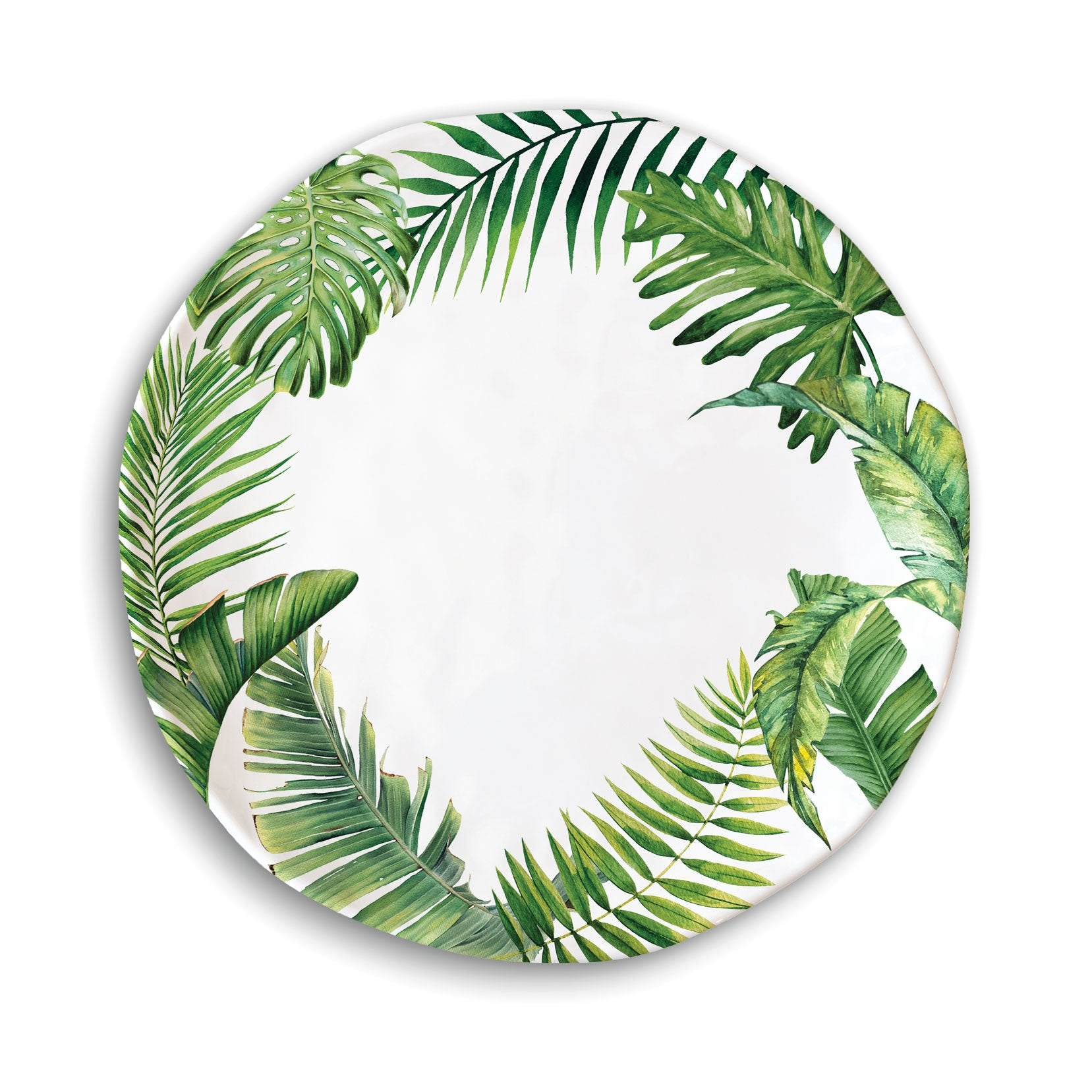 Flamingo Palm Melamine Serveware Dinner Plate