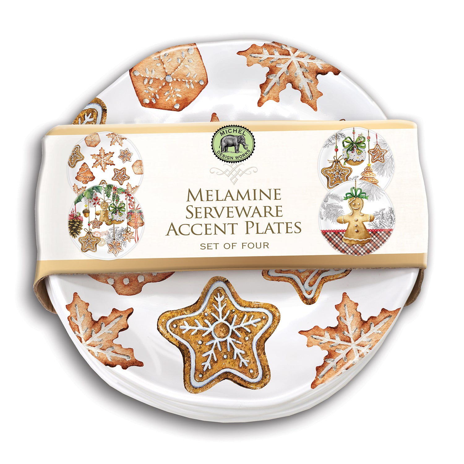 Holiday Treats Melamine Serveware Accent Plate Set