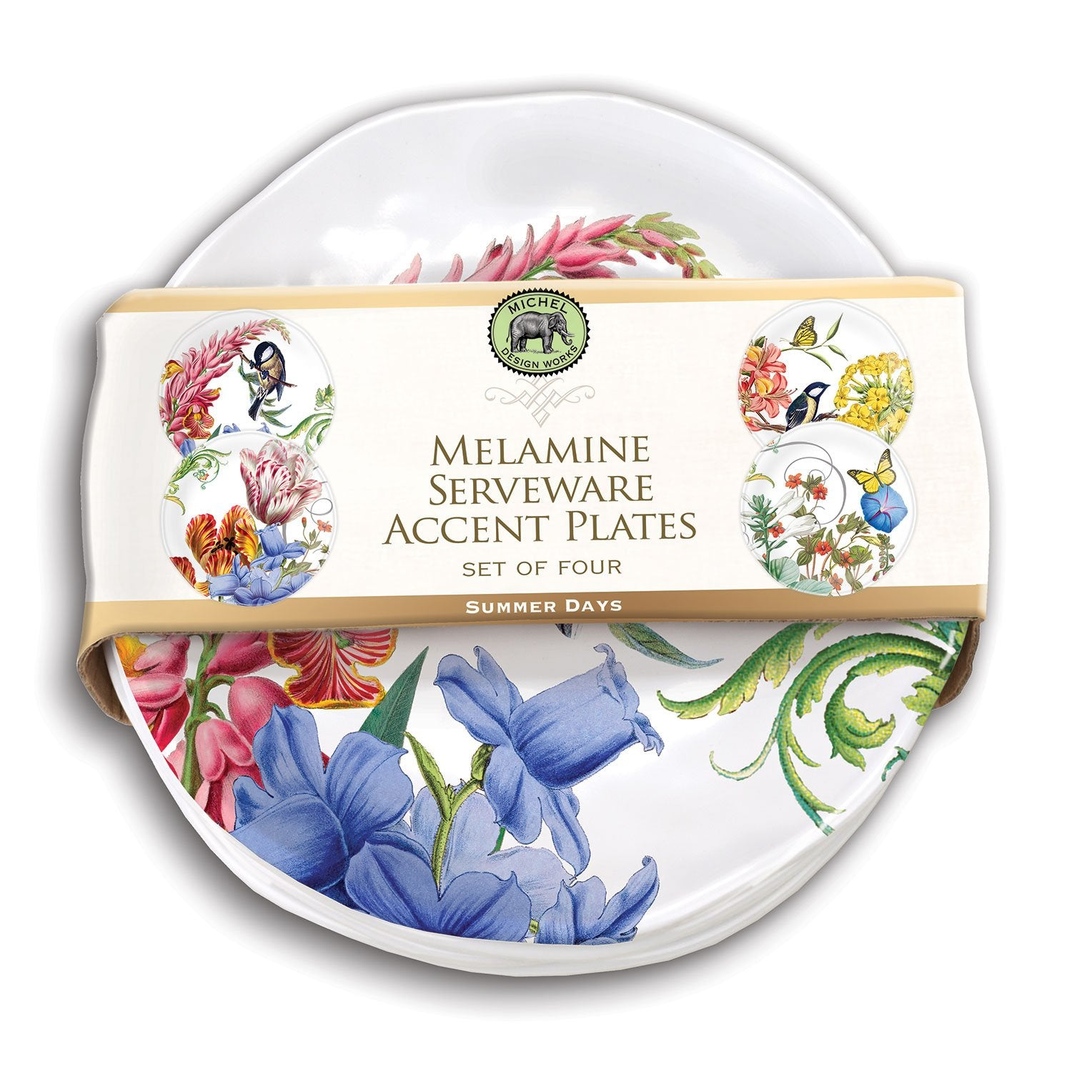 Summer Days Melamine Serveware Accent Plate Set
