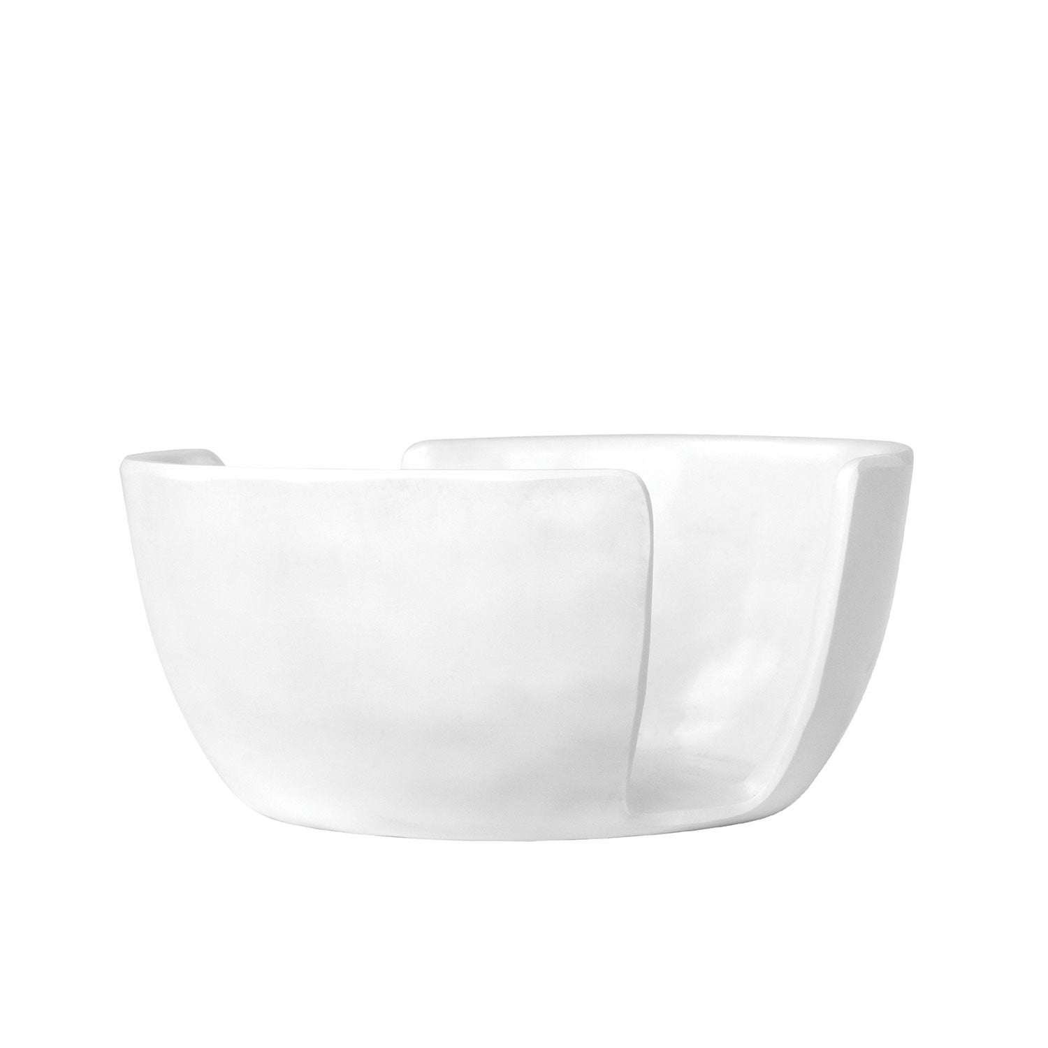 White on White Melamine Serveware Sponge Holder