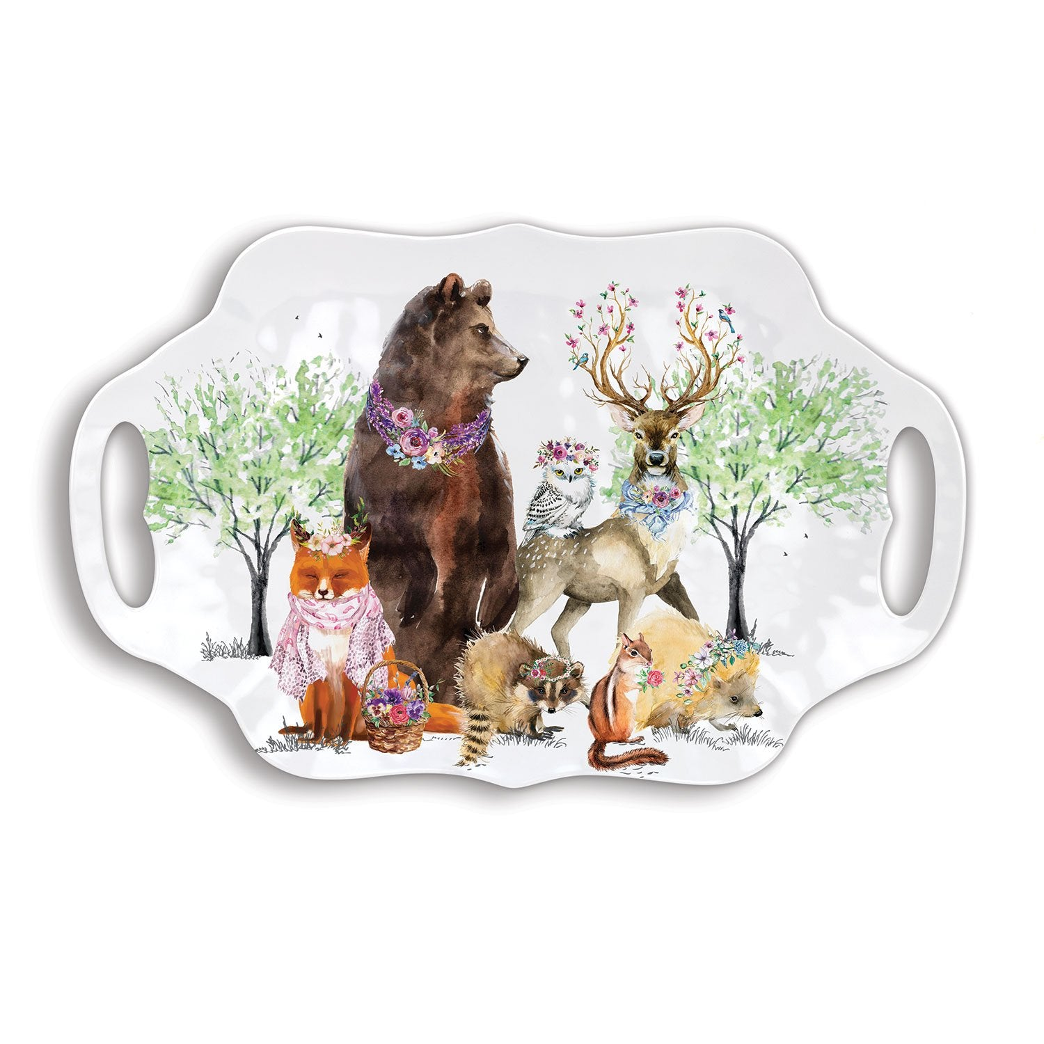 Garden Party Melamine Serveware Serving Tray