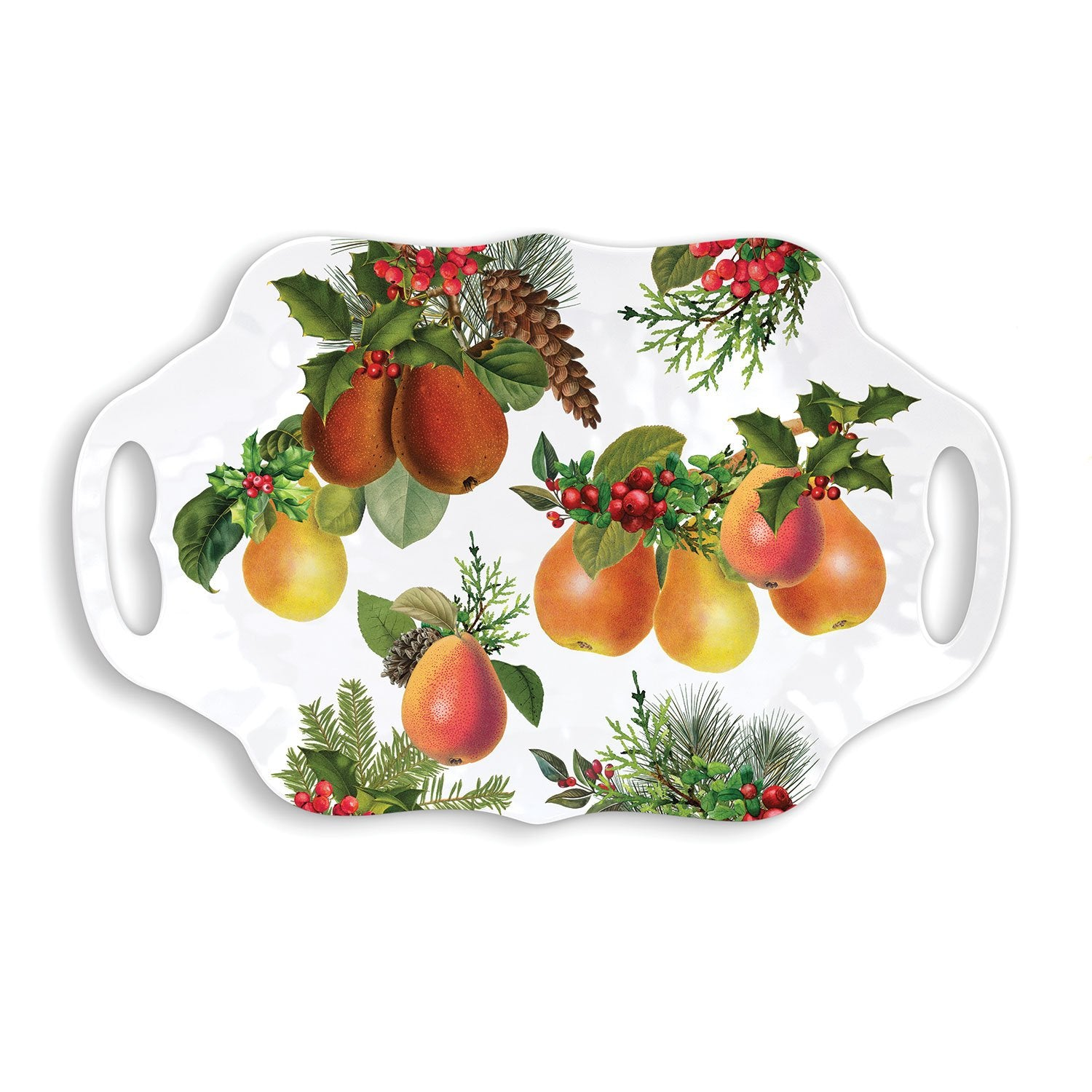 In a Pear Tree Melamine Serveware Serving Tray