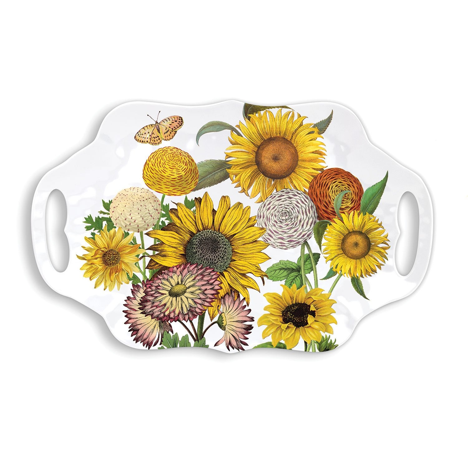 Sunflower Melamine Serveware Serving Tray